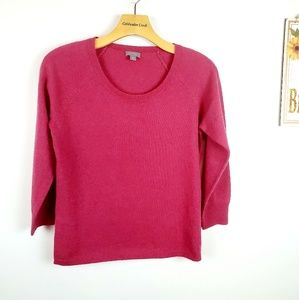 Ann Taylor Dusty Pink 100% Cashmere Sweater Size S